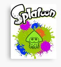 Splatoon Squid - Colour Green Canvas Print