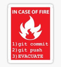 commit, push, EVACUATE Sticker