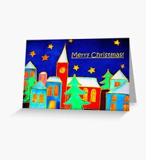 Christmas in Town Greeting Card