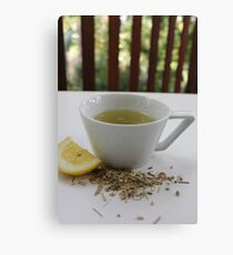 Lemongrass Tea and Lemon Slice Canvas Print