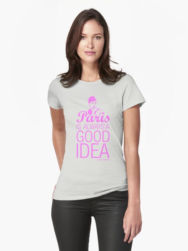 Paris is always a good idea - Audrey Hepburn by KillbotClothing