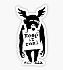 banksy - keep it real monkey Sticker
