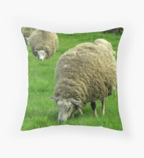 """Still wearing my Wintercoat..."" Throw Pillow"