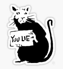 banksy - rat (you lie) Sticker