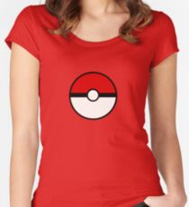 Pokemon - Pokeball WHITE RED Women's Fitted Scoop T-Shirt