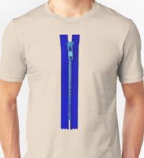 Blue zip Unisex T-Shirt