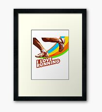 I Love Running Framed Print