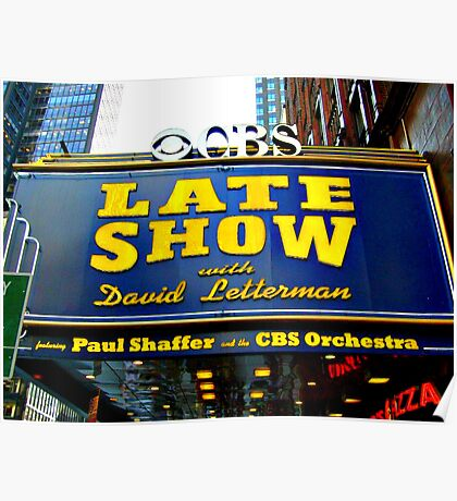 The Late Show With David Letterman Poster