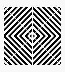 Black & White Simple Pattern Photographic Print