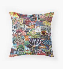 Old school graffiti mix N°1 Throw Pillow