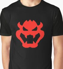 Super Mario Bowser Icon Graphic T-Shirt