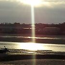 Early Evening over a Low Tide  by Hucksty