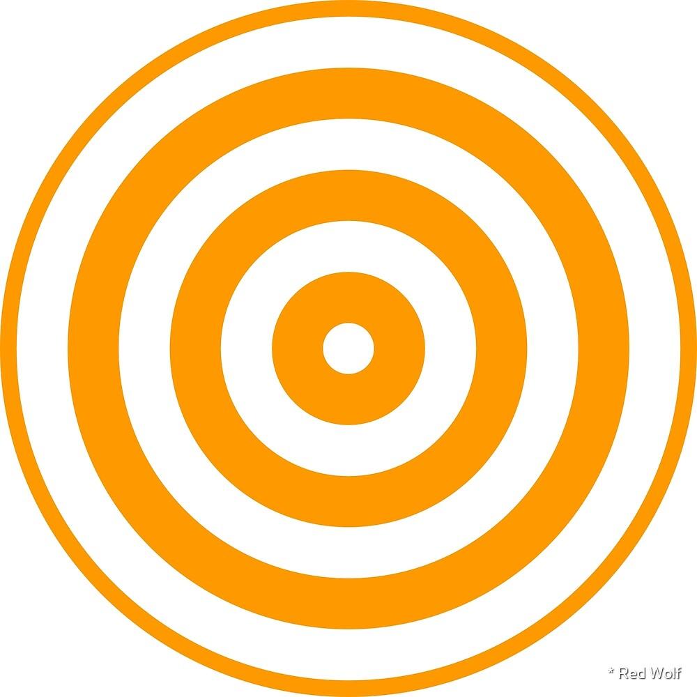 Geometric Pattern: Rondel: White Orange by * Red Wolf