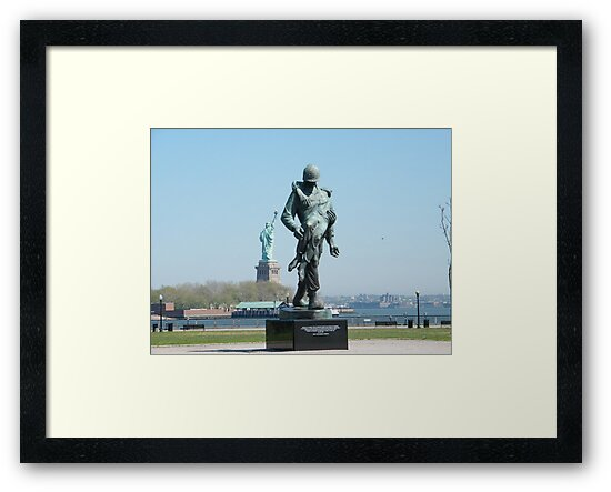 """""""Liberation"""", Monument to World War 2 Concentration Camp Survivors, Statue of Liberty in Backround, Liberty State Park, New Jersey by lenspiro"""