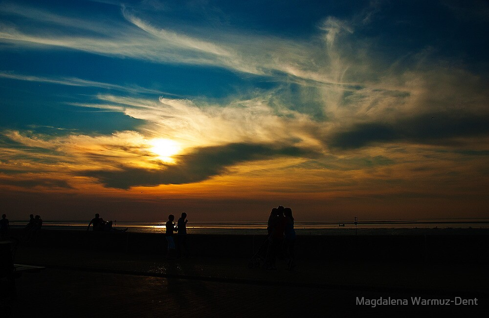 Sunset at the seaside by Magdalena Warmuz-Dent