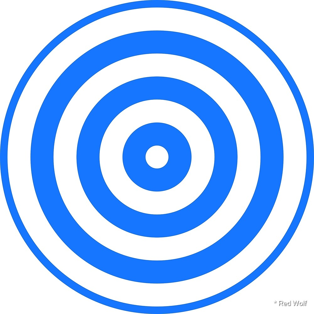 Geometric Pattern: Rondel: White Blue by * Red Wolf
