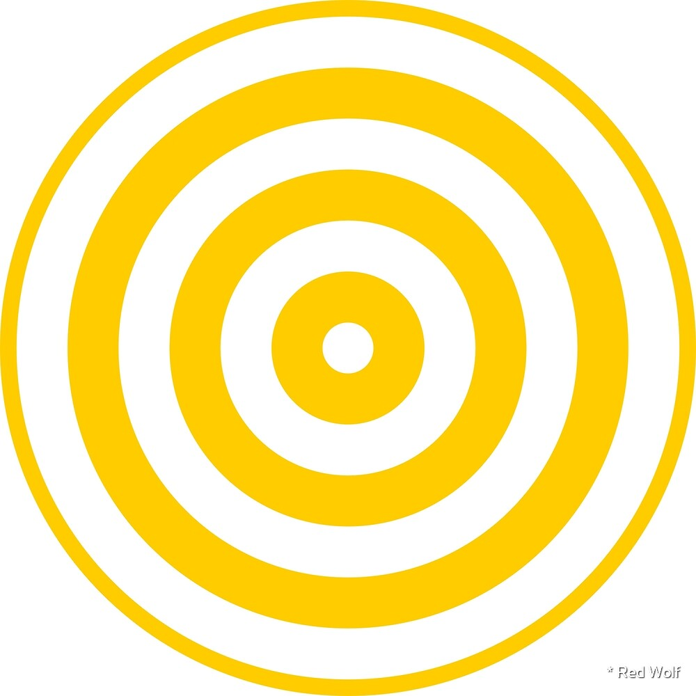 Geometric Pattern: Rondel: White Yellow by * Red Wolf