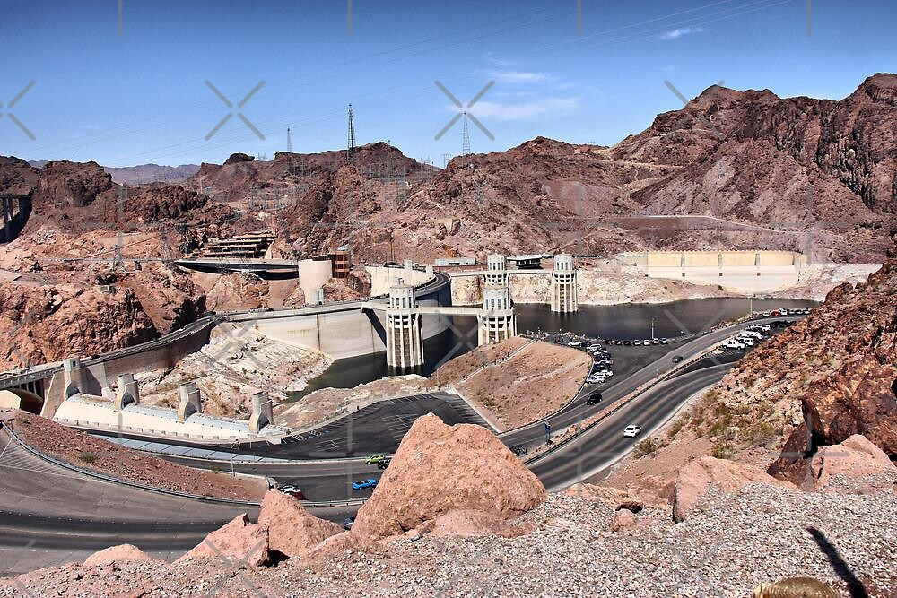 Hoover Dam - Tourist Parking Lot Side by Vickie Emms