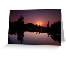 Bodrum Sunset Greeting Card