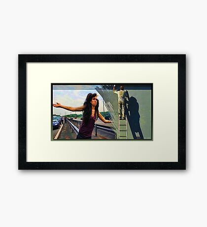 What Are You Doing? I'm Trying To Get Home! Framed Print