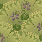 iPhone Case Nouveau Violets by Melanie  Dooley