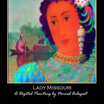 'Lady Missouri', Titled Greeting Card or Small Print by arbogast0657
