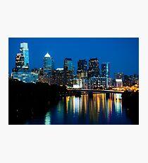 Philadelphia Skyline at Night Fotodruck
