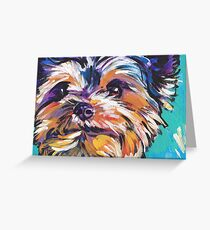 Yorkie Yorkshire Terrier Bright colorful pop dog art Greeting Card
