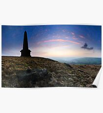 Stoodley Pike Sunset Poster