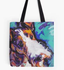 Wire Fox Terrier Bright colorful pop dog art Tote Bag