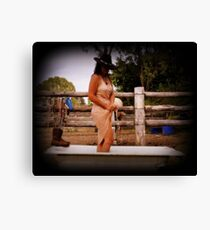The Bath Tub and the Cowgirl. Canvas Print