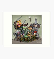 Fellowship of the Muppets Art Print
