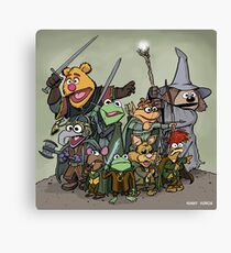 Fellowship of the Muppets Canvas Print
