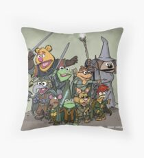 Fellowship of the Muppets Throw Pillow