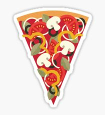 Pizza Power - Vegetarian Version Sticker