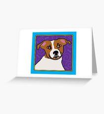 Jack Russell Cartoon Greeting Card