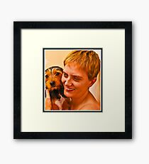 Holly & Angela Framed Print