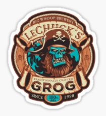 Ghost Pirate Grog Sticker