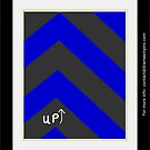 THIS WAY UP - Bold Colors Print by dramaempire