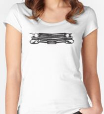 1959 Cadillac Grille Women's Fitted Scoop T-Shirt