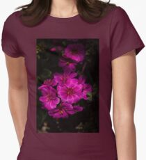 A Vivid Succulent Bouquet in Bold Pink and Fuchsia Womens Fitted T-Shirt