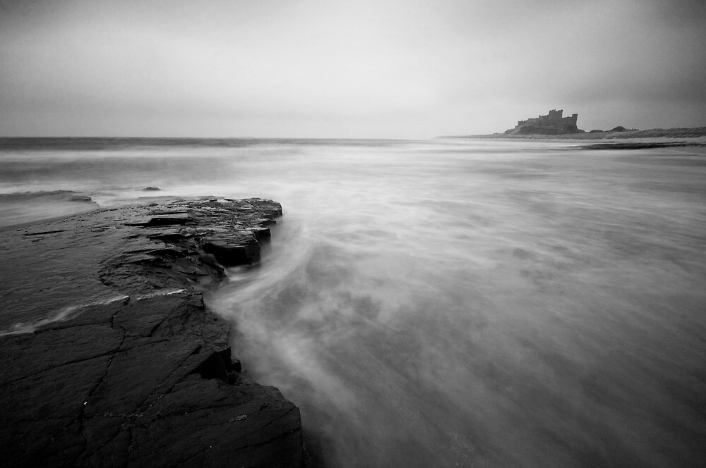 Bamburgh tides by Daniel Davison