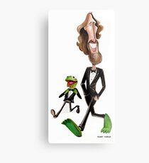 Steppin' Out with Jim and Kermit Metal Print