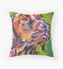 Vizsla Dog Bright colorful pop dog art Throw Pillow