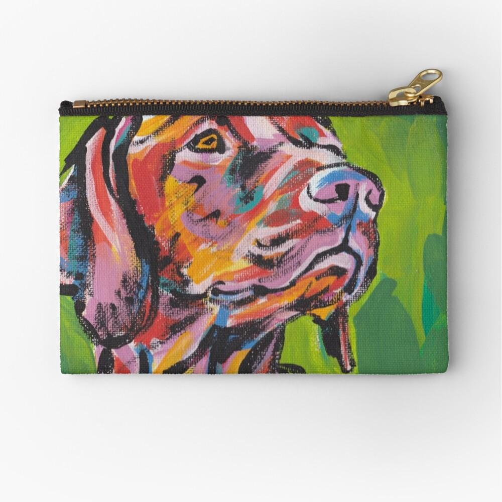 Vizsla Dog Arte pop colorido brillante Bolsos de mano