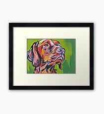 Vizsla Dog Bright colorful pop dog art Framed Print