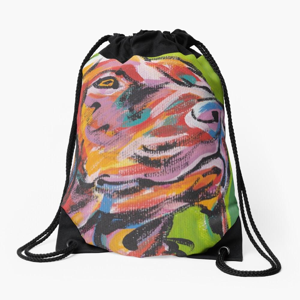 Vizsla Dog Arte pop colorido brillante Mochila saco