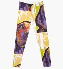 Vizsla Dog Bright colorful pop dog art Leggings