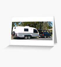 Fibreglass Caravan. Greeting Card