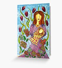 Mother's Arms ~ always open for a hug Greeting Card